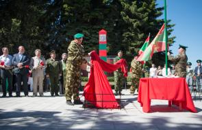 Открытие памятного знака в честь 100-летия со дня образования пограничных войск